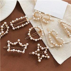 AOMU-Korea-Chic-Imitiation-Pearl-Hair-Clips-for-Women-Geometric-Round-Triangle-Hairpins-Hair-Accessories-Hollow