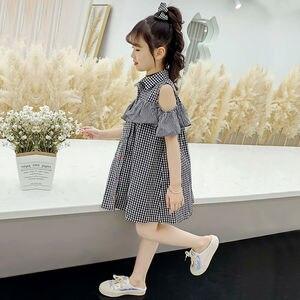 Детская одежда, милое клетчатое платье с оборками для девочек, лето 2020, детские платья принцесс для больших девочек 12, 11, 10, 9, 8, 7, 6, 5 лет