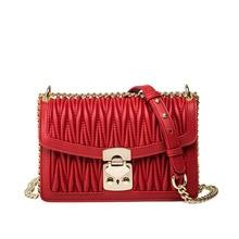 цена на Women Bag Shoulder Bag Messenger Lady Diamond Chain Summer New Fashion Designer Bag Famous Brand Girls Bags Genuine Leather Bag