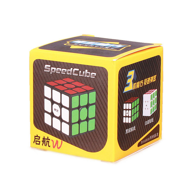 New QiYi Sail W 3x3x3 Speed Magic Cube Black Professional Puzzle Cubes Educational Toys For Children 6