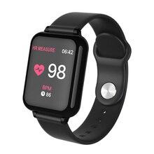 B57 luxo led smartwatch relógio inteligente à prova dwaterproof água mulher esporte saúde pulseira para android ios