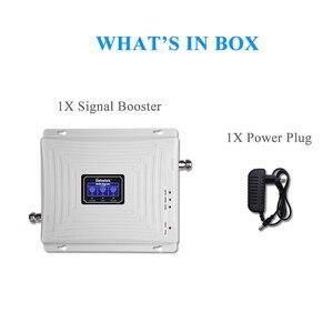 Image 5 - Lintratek tribanda B1 + B3 + B7 3G UMTS 2100mhz GSM 4G LTE 1800mhz 2600mhz LCD telefon komórkowy wzmacniacz sygnału gsm