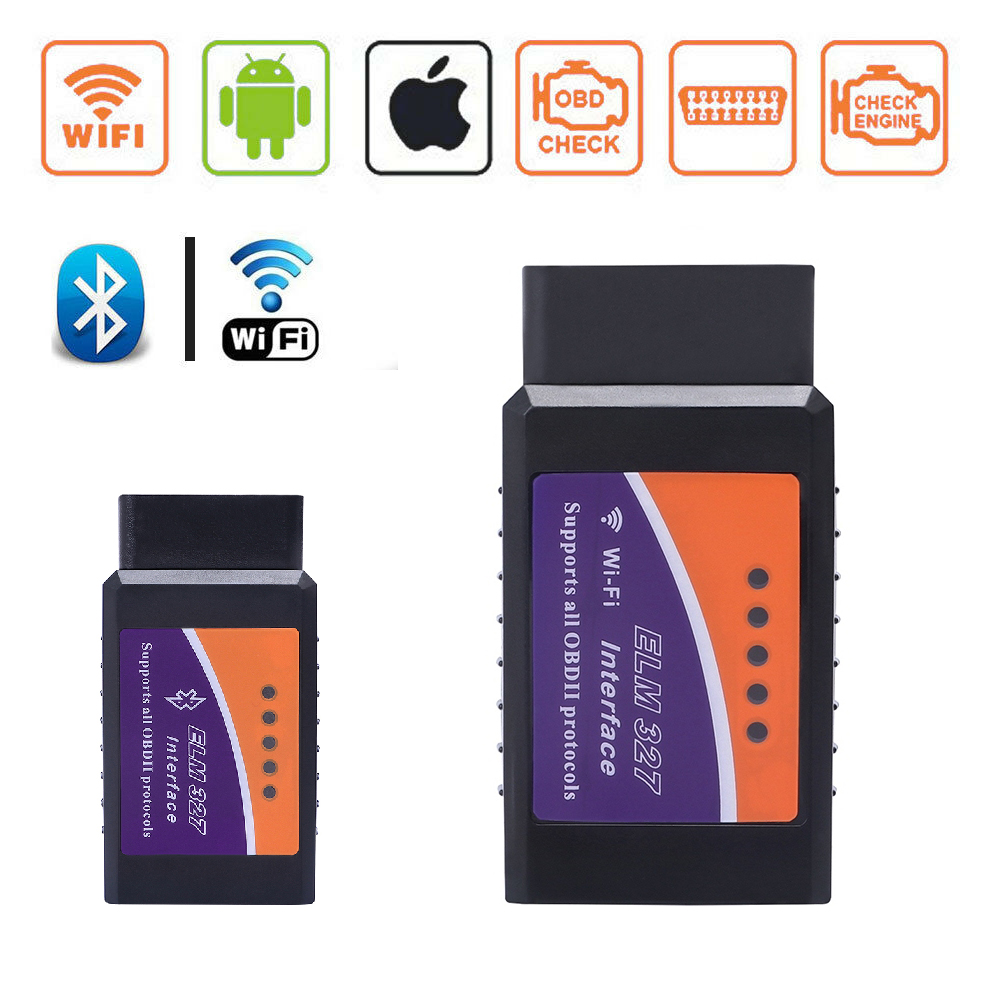 ELM327 <font><b>V1.5</b></font> <font><b>Wifi</b></font> <font><b>Bluetooth</b></font> OBD2 <font><b>V1.5</b></font> Mini <font><b>Elm</b></font> <font><b>327</b></font> Smart <font><b>Bluetooth</b></font> Chip Car Diagnostic Tool OBD2 Scanner For Android IOS Windows image