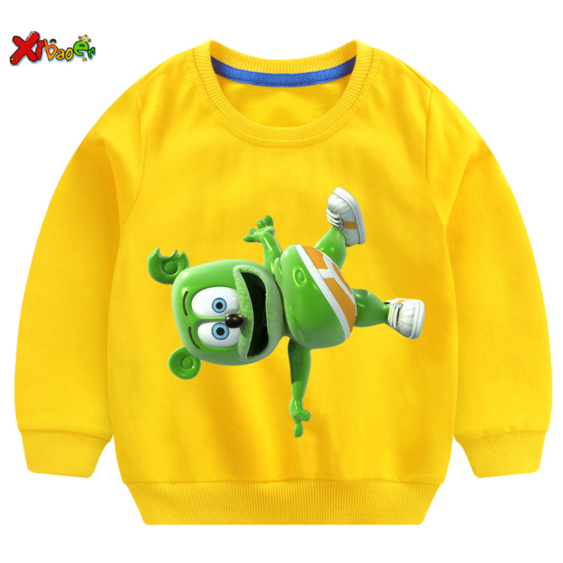 kids hoodies sweatshirts toddler Baby clothing Boys Girls Gummy Bears Print Casual t shirt spring Tops t shirt children Pullover