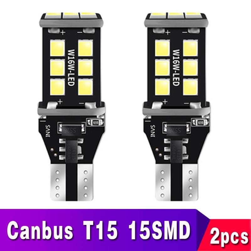 2x T15 T16 LED Canbus 921 W16W Bulb Car Backup Reverse Lights For Hyundai Tucson 2017 Creta Kona IX35 Solaris Accent I30 Elantra