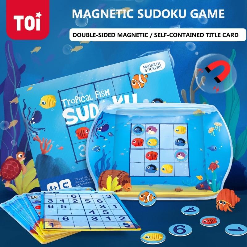 Jeu De Cerveau Pour Bebe Interieur Toi Magnetique Sudoku Jeux De Table Logique Difficulte Nivelee Parent Enfant Course Gratuite 3 Ans Aliexpress