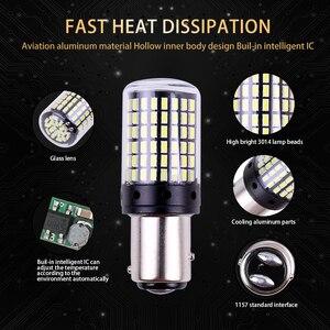 2шт 1157 P21/5 Вт BAY15D T20 7443 Высокое качество 3014 светодиодный Автомобильный задний тормозной светильник для автомобиля DRL дальнего света поворотн...