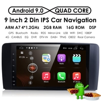Android 9.0 9Inch 2+16G Car GPS Navigation 4 Core Multimedia Player Bluetooth Autoradio for Mercedes Benz GL ML Class W164 ML35