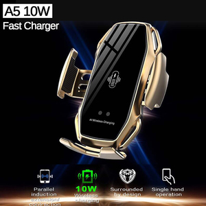 Image 2 - Wireless Fast Car Charger A5 10W For Android IOS Smartphone Mobile Phone Fast Charging with Smart Sensor Car Mount Fast Charger