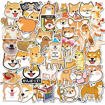 50PCS Lovely Japanese Shiba Inu Dog Animal Stickers for Kids DIY Stationery Scrapbook Laptop Guitar Suitcase Cute Puppy Sticker - discount item  50% OFF Classic Toys