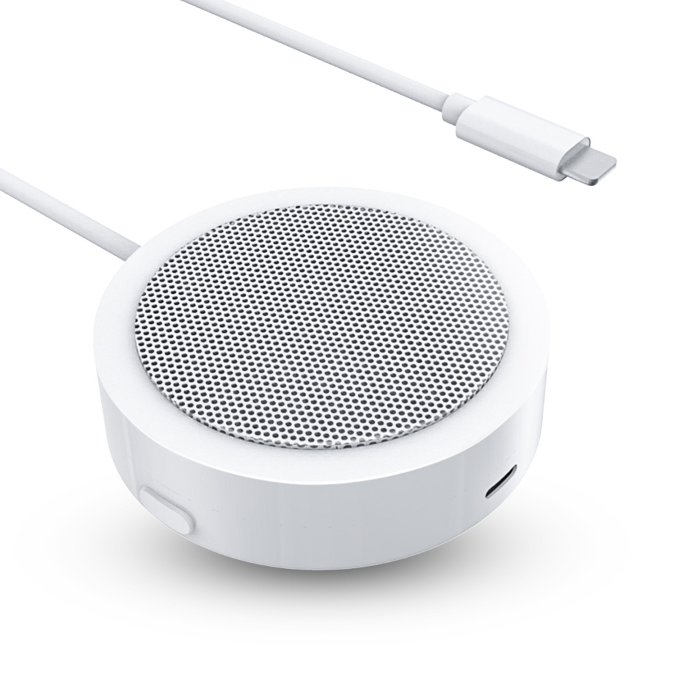For Lightning Audio Adapter Portable Conference Speaker With Microphone Aux Jack For IPhone X/XR/XS/8/7/iPad Pro/iPod