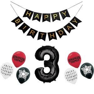Image 4 - 12 stücke Fremden Dinge Luftballons Latex ballon Geburtstag Party Dekorationen Spielzeug Partei Liefert Globos