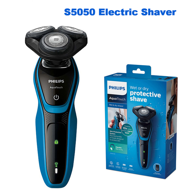 Original Philips Professional AquaTouch S5050 electric shaver with Rotary 3 head with Skin Protection System Razor for Men