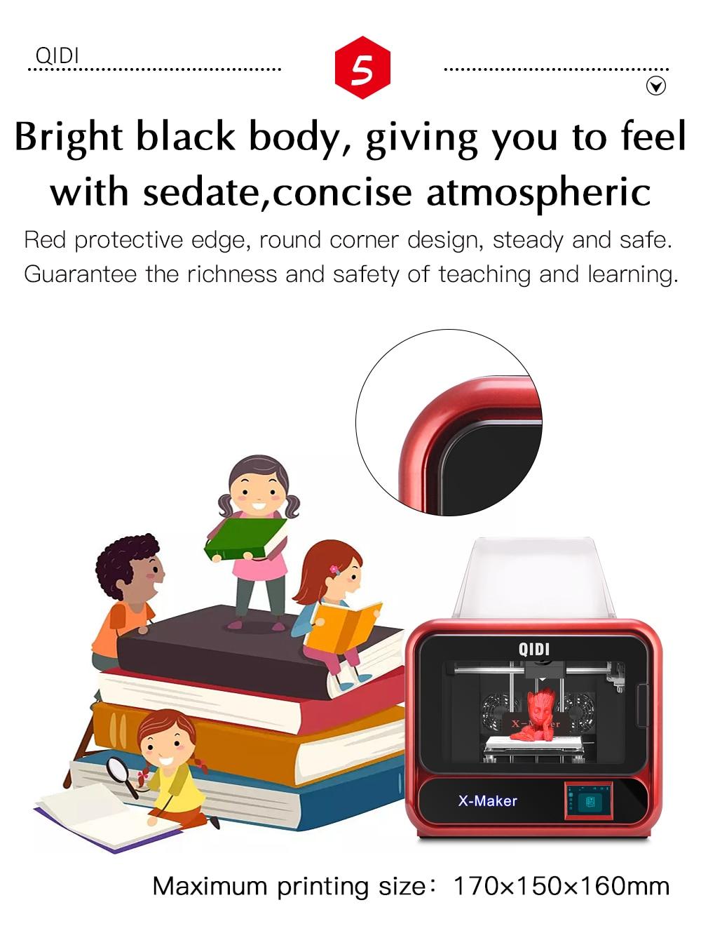 QIDI TECH X-Maker 3D Printer with Camera Wifi Touch Screen Single Nozzle Printing 13