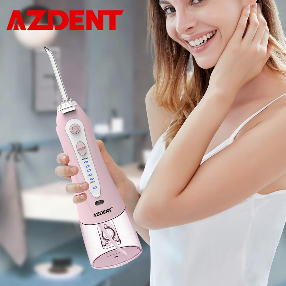 5 Modes HF-9 Portable Oral Irrigator Cordless Water Dental Flosser USB Rechargeable Water Jet Floss Tongue Cleaner 5 Tips 240ml