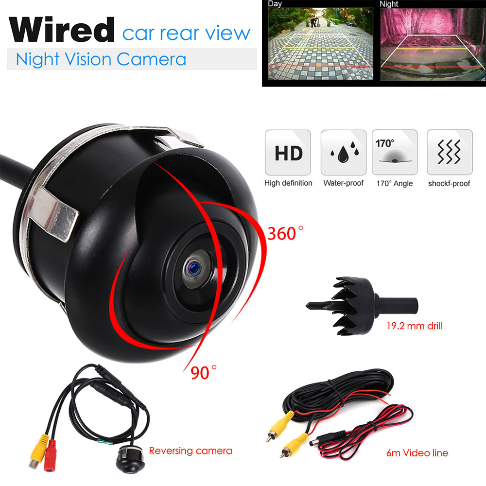 Waterproof HD Wide Angle night vision 360 degree Car Rear View Camera Front Camera Front View Side Reversing Backup Camera