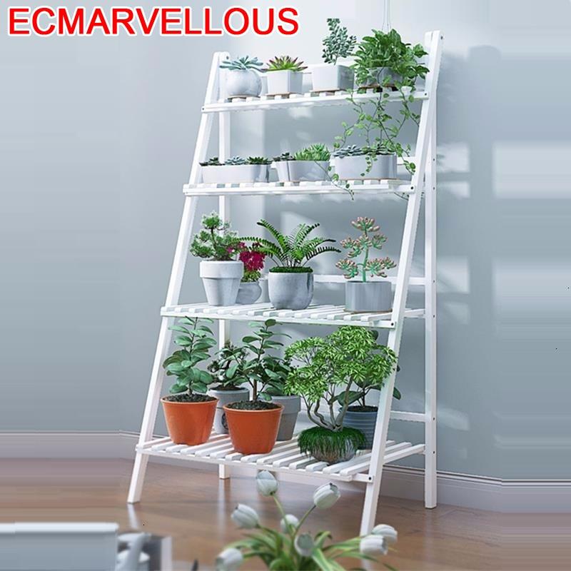 Estanteria Para Plantas Huerto Urbano Madera Ladder Balkon Garden Shelves For Dekoration Rack Balcony Flower Shelf Plant Stand