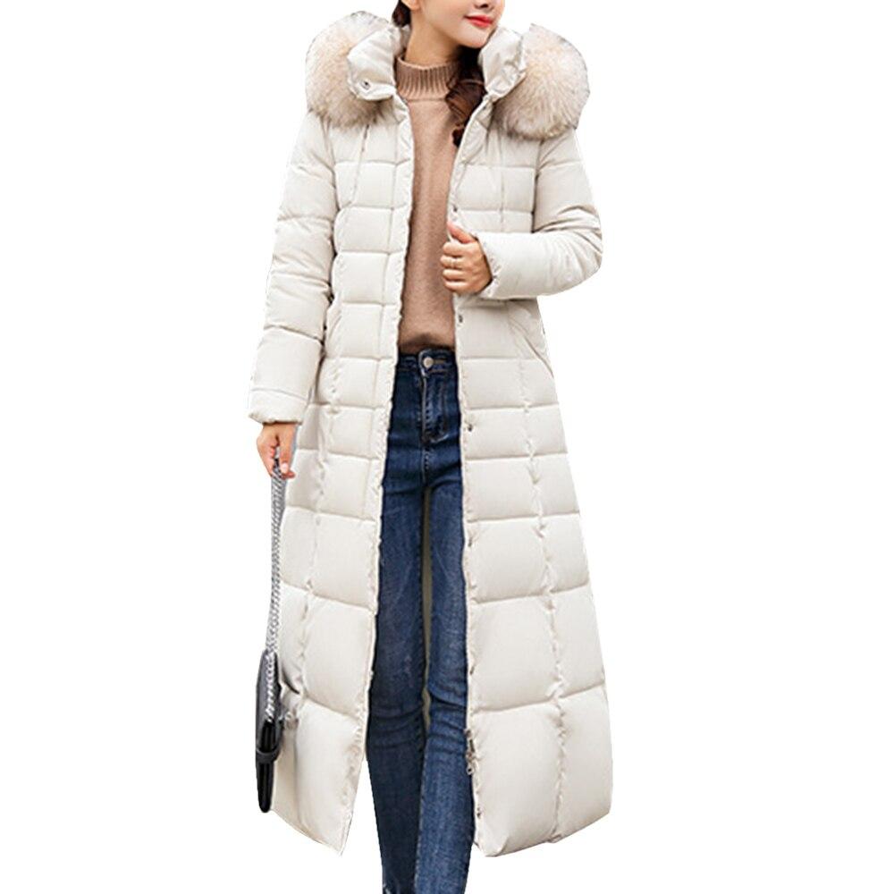 WENYUJH Autumn Winter Women Plus Size Fashion Cotton Long Coat Hoodie Long   Parkas   Warm Jackets Female Winter Coat Clothes