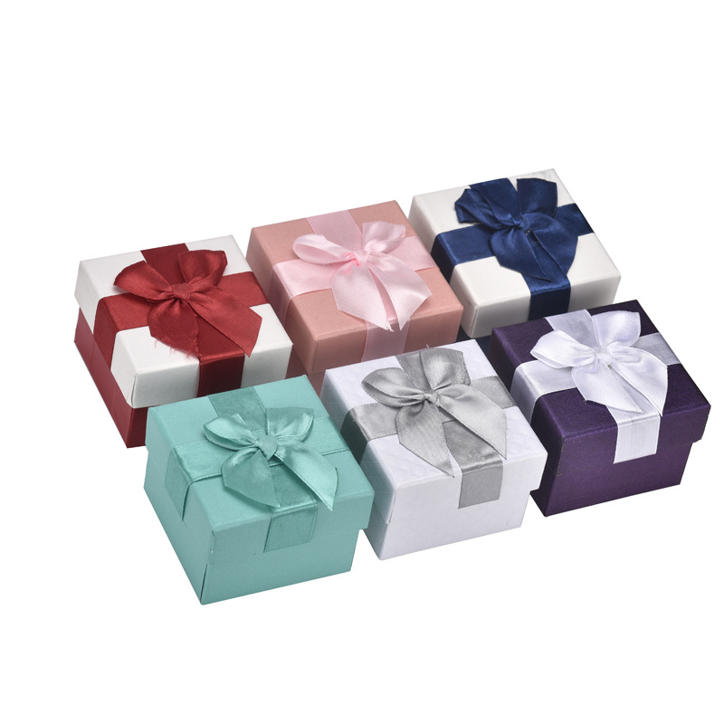 Fleece Interior Trim Storage Box Thick Fabric Accessories Gift Box Packaging For A Girlfriend Lace Bow Jewlery Box