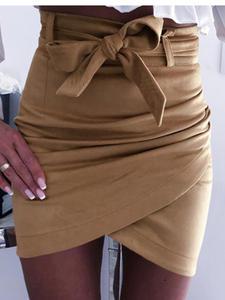 Mini Skirts Pencil Clubwear Bandage Bodycon Pink Khaki White Sexy High-Waist Womens Fashion