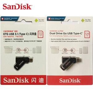 Image 5 - Sandisk clé USB Ultra double OTG, SDDDC3, bâton de 128 go, 64 go, 32 go, clé stylo USB 3.1, pour stockage clé USB type c