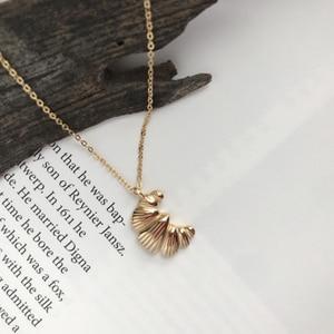 Модное ожерелье UILZ с кулоном в виде мини Круассанов для женщин, модное ожерелье золотого цвета, металлическое крошечное ожерелье для модели...