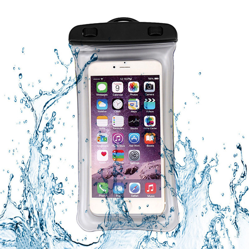 Outdoor Drifting Bag Inflatable Floating Airbag Clip Smartphone Waterproof Bag Bath Waterproof Cover Customizable