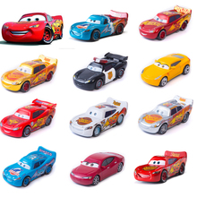 Cars 2 3 Disney Pixar No. 95 Toys Car Lightning McQueen Golden Silver Collection 1:55 Diecast Metal Alloy Toy For Children Gift