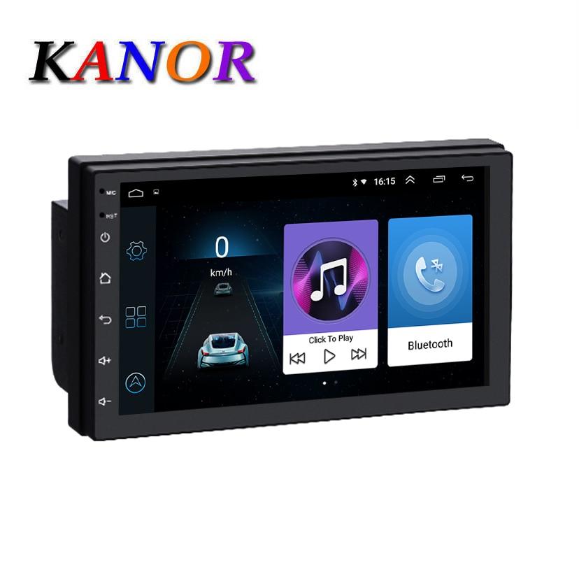 KANOR 1024*600 Android 8.1 2 Din autoradio multimédia lecteur vidéo universel auto stéréo GPS carte Navigation tête unité système