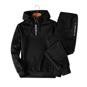 Sets Tracksuit Men Autumn Winter Hooded   5