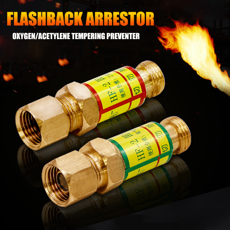 Newly Oxygen Acetylene Check Valves Flash Back Arrestor For Pressures Reducer Cutting Torch XSD88