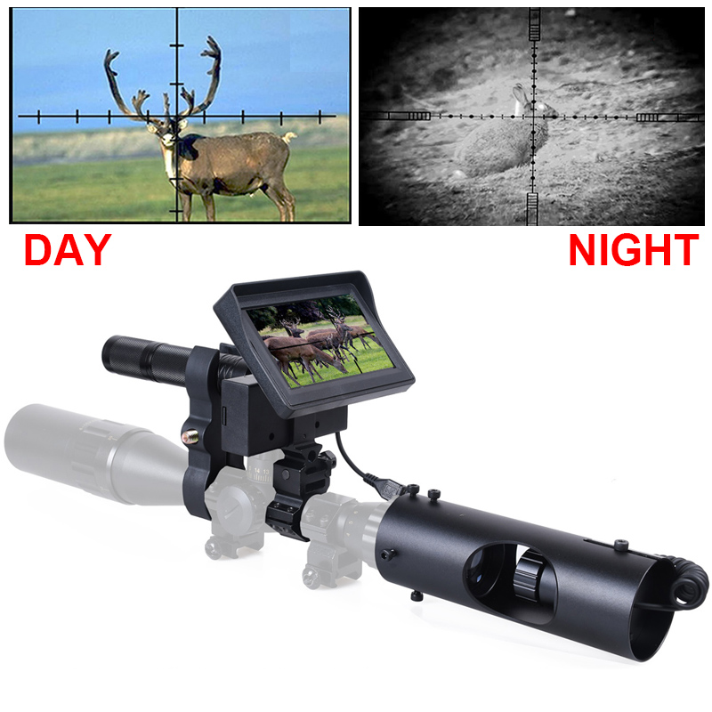 Hunting Night Vision for Rifle Scope Camera 850NM Infrared LED IR 200 meters Clear Vision Scope Device