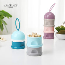 Portable Baby Food 3 Layer Storage Box Essential Cereal Cartoon Formula Milk Container Milk Powder Boxes Toddle Kids PP Material(China)