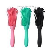 3 peças desembaraçamento escova conjunto com borda escova dupla face, cabelo detangler para afro américa textured 3a a 4c kinky ondulado para molhado