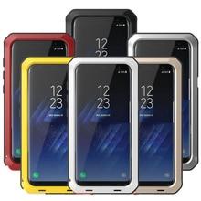 ヘビーデューティ保護鎧金属アルミ電話ケース S9 S8 プラス S4 S5 S6 S7 エッジ注 8 5 4 耐衝撃カバー