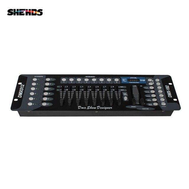 Nova chegada 192 controlador dmx para moving head light 192 canais para dmx512 dj equipamento controlador dsico