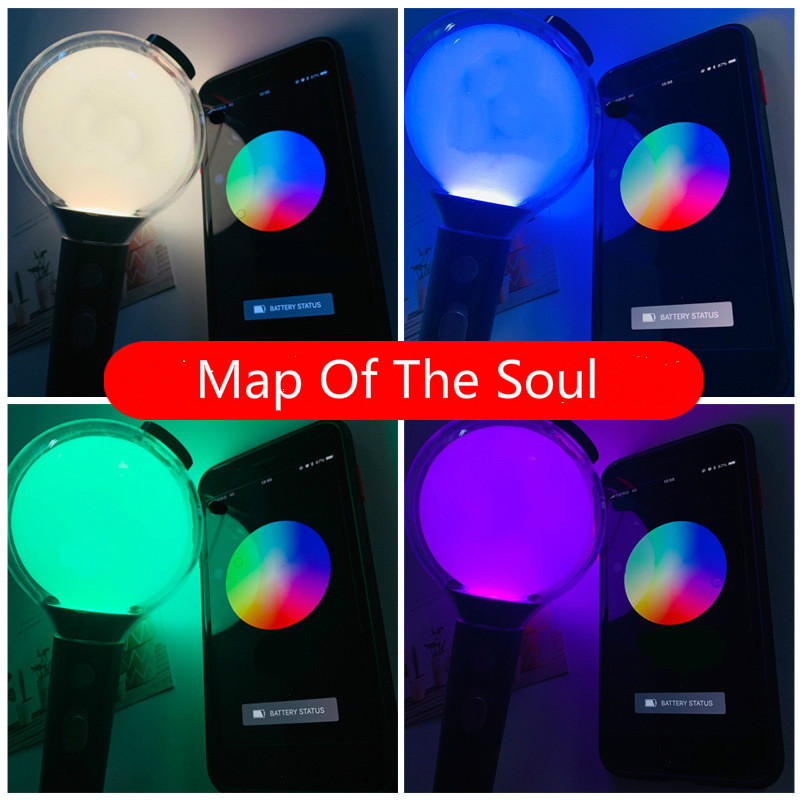 KPOP Arny Bomb Lightstick Ver.3 Ver.4 Special Edition SEmap Of The Soul Concert Lightstick With Bluetooth Photo Cards Fans Gifts