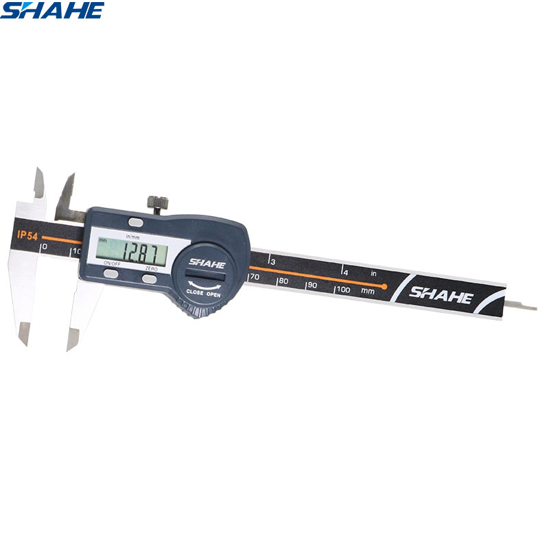 Shahe digital caliper 100 mm 0.01mm eletrônico digital vernier pinças calibre micrômetro ferramenta de medição aço inoxidável