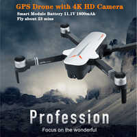 Pro GPS RC drony z 5G Wifi 4K HD podwójny aparat gest składany quadcopter lot 23min Dron VS F11 B4W SG906