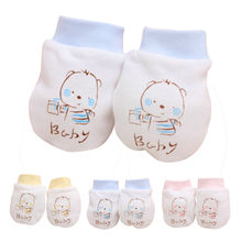 2019 Winter Baby Gloves 1 Pairs Cute Cartoon Baby Infant Boys Girls Anti Scratch Newborn Mittens Fabric Gloves Gift Guante #10(China)