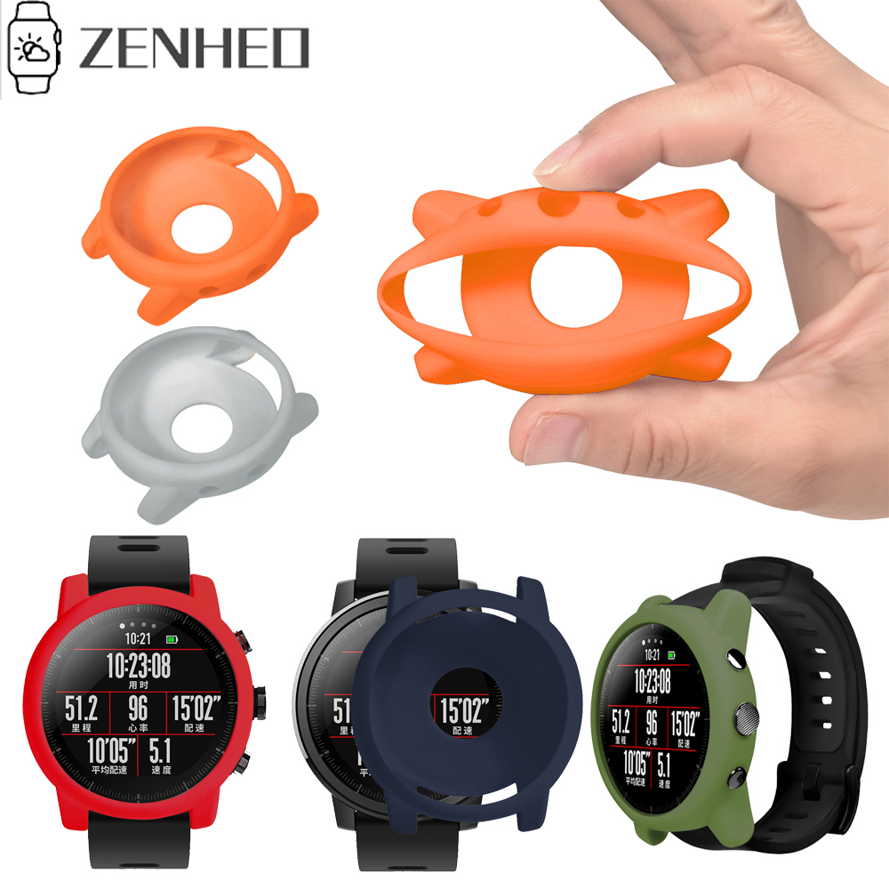 Soft Case Cover Protective Frame Shell For Xiaomi Huami Amazfit 2/2S Stratos Watch Colorful Replacement Watch Protector Case