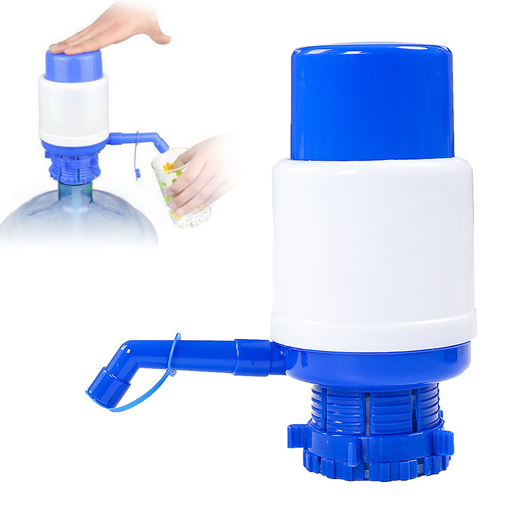 Blue Portable Water Pump Dispenser Gallon Drinking Bottle Hand Press Removable Tube Innovative Pump Dispenser Tools For Office