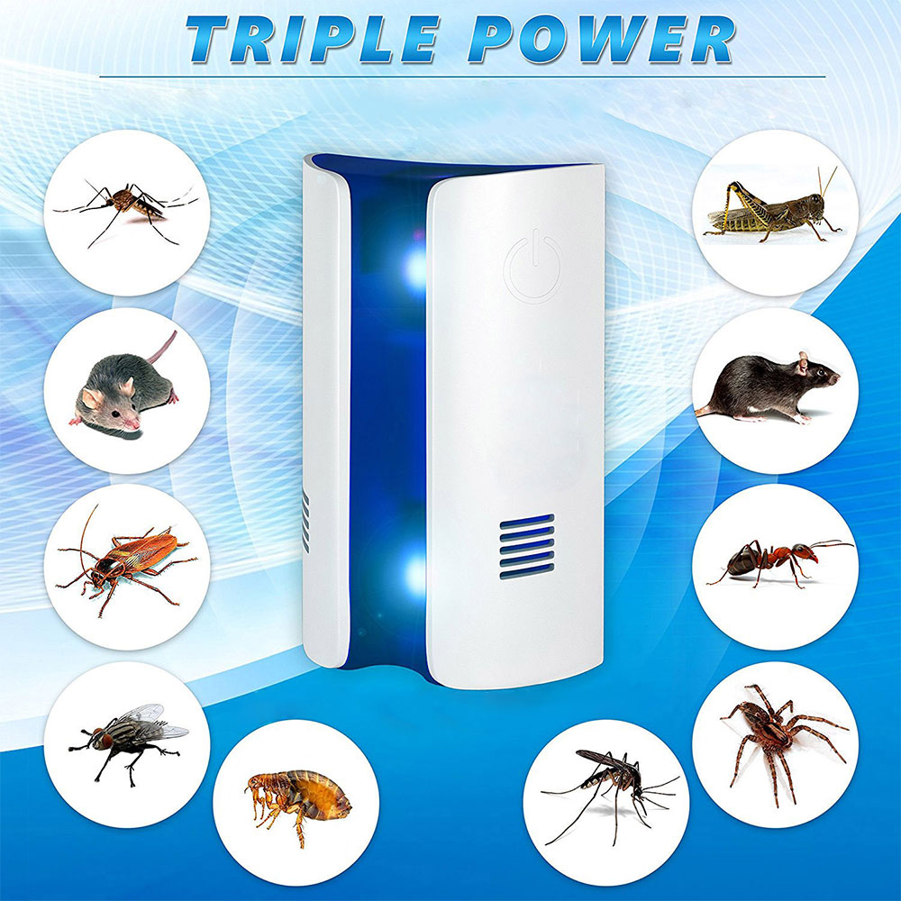 Bread Type Multi-function Pest Reject Night Light Electronic Ultrasonic  Mosquito Control Mouse Insect Repellent Mouse Expeller
