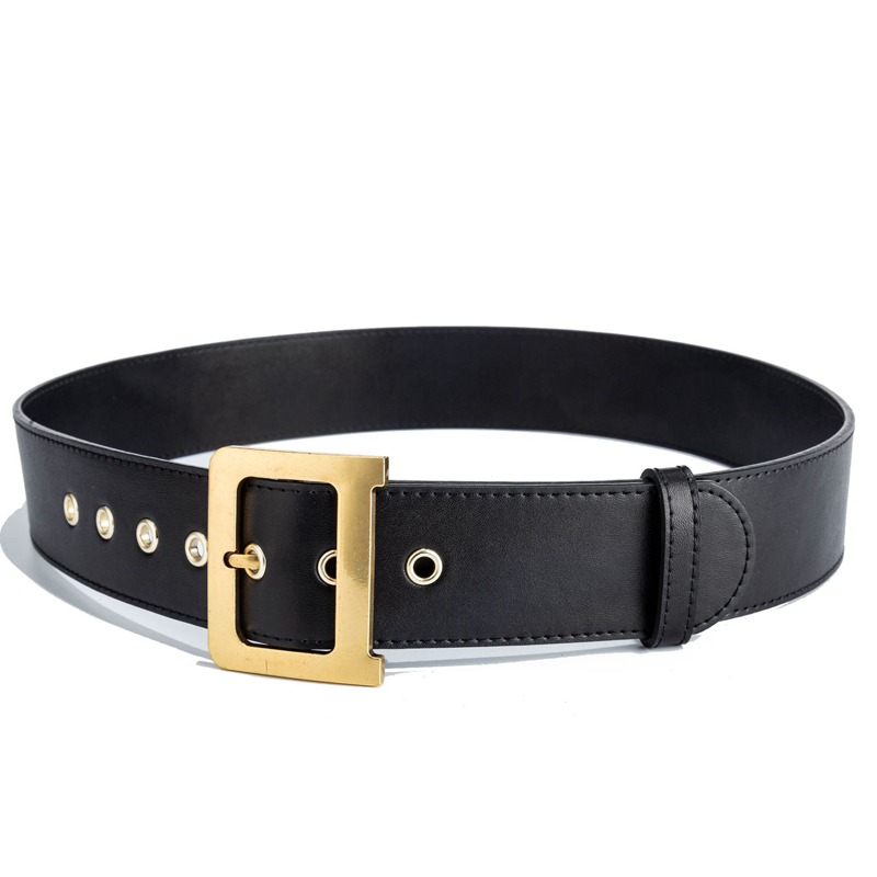 Image 3 - 100% Genuine Leather Belts Luxury Designer Metal D Buckle belt women girls retro vintage large belt for jeans black With Box-in Women's Belts from Apparel Accessories