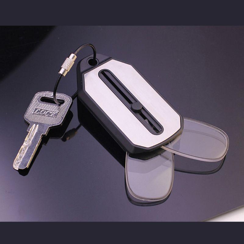 Mini Pocket Foldable Clip Nose Reading Glasses Keychain Black Frame For Readers
