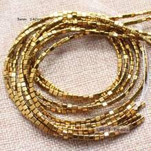 Perline triangolari in ematite naturale da 3mm 140 pezzi per filo, per la creazione di gioielli fai-da-te! Commercio all'ingrosso misto per tutti gli articoli!
