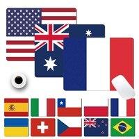 Fácil de limpiar, Mouse Pad antideslizante impermeable de la PU de cuero Mouse pad-diferentes Bandera de países patrón almohadilla para Mouse para juegos