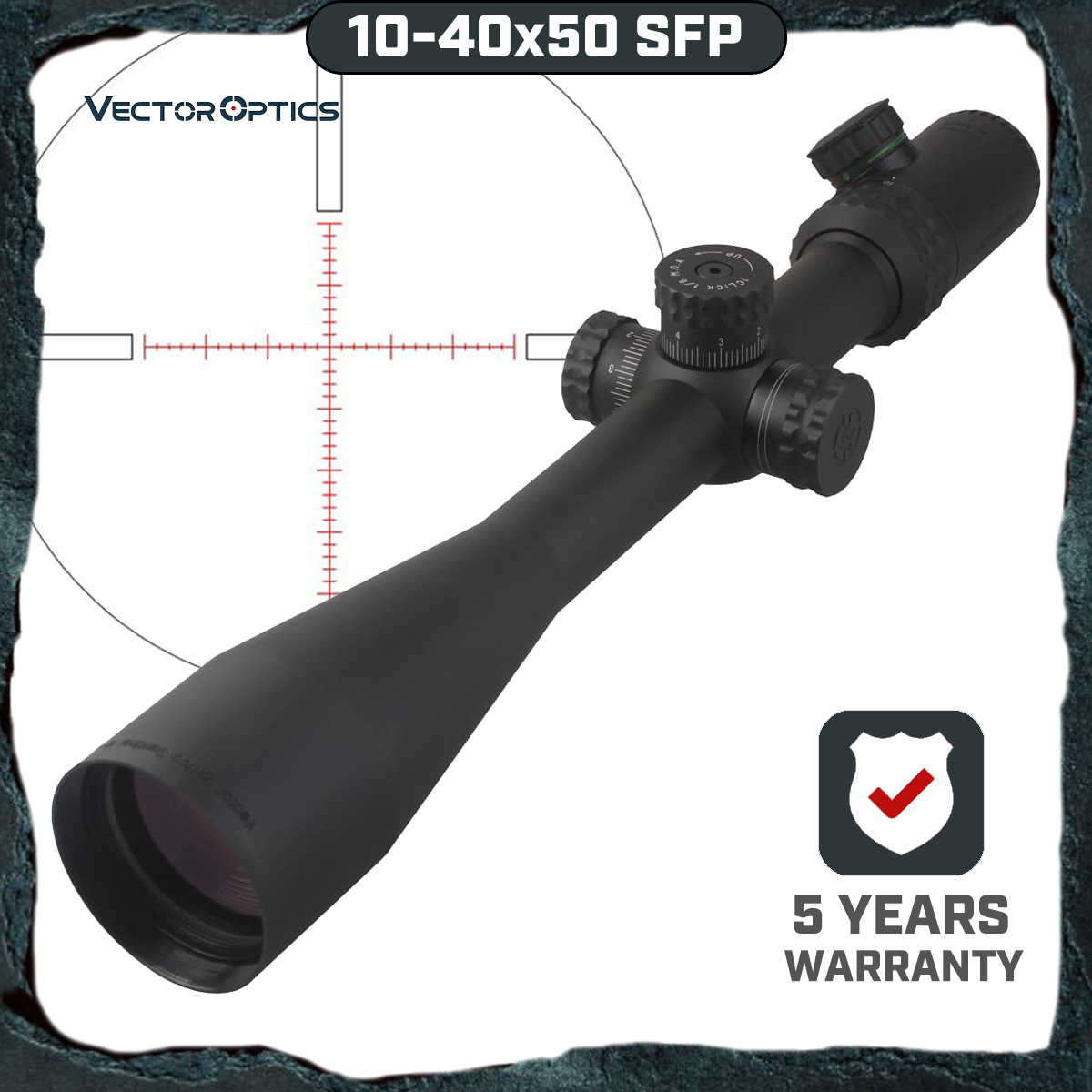 וקטור אופטיקה Gen 2 סנטינל 10-40x50 ירי צלף Riflescope היקף עם מואר MP Reticle עבור יקר Sight ציד