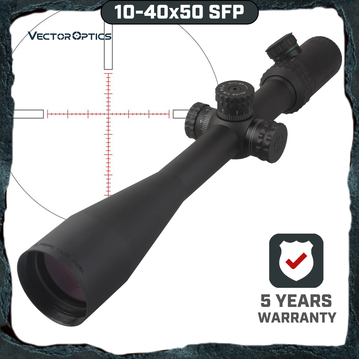 Vector Optics Gen 2 Sentinel 10-40x50 Shooting Sniper Riflescope Scope With Illuminated MP Reticle For Dear Sight Hunting