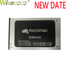WISECOCO New Original 2200mAh Battery For Micromax Bolt Q354 Smart Mobile